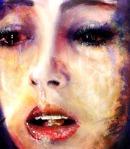 Portrait oil andInk