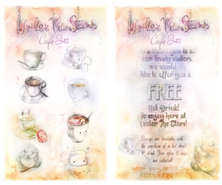 Loyalty Card - Happy Cups Illustration