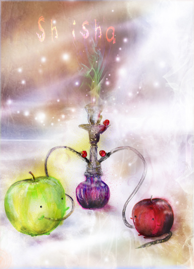 Happy Apple Shisha Poster