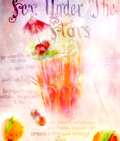 Sex Under The Stars Cocktail Poster