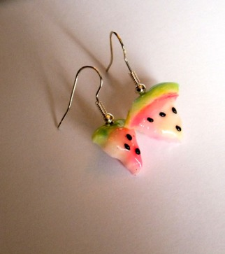 Glow In The Dark Watermelon Drop earrings