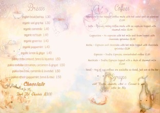 Inside Design For Hot Drinks Menu