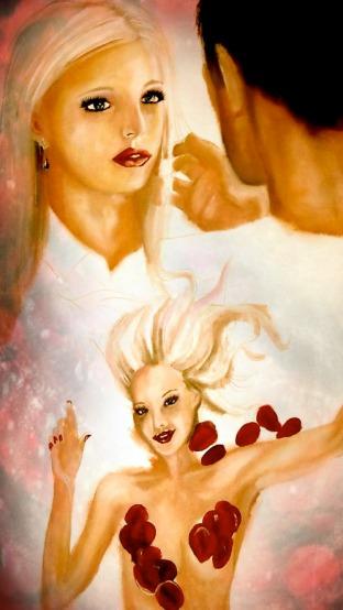 American Beauty Oil Portrait