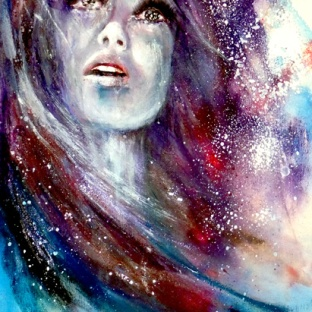Galaxy Portrait Canvas