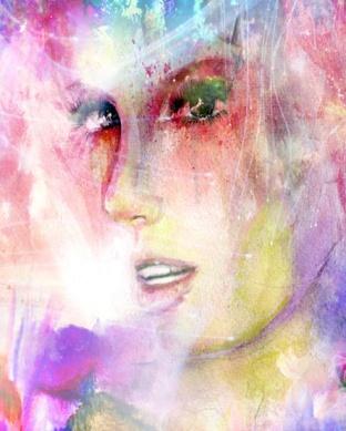 Phsycadelic Portrait in Ink