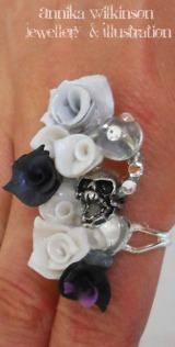 skull crystal toadstool ring